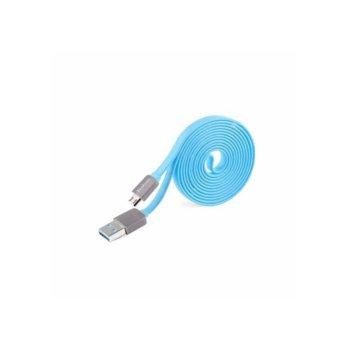 Кабел Yoobao от USB 2.0 A(м) към USB micro B(5-pin)(м), 0.8m, син image