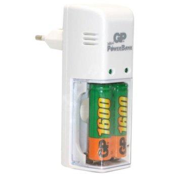 Зарядно у-во GP KB02GS, за батерии AA/AAA, 2x АА/AAA (2100 mAh image
