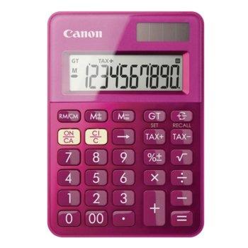 Калкулатор Canon LS-100K, LCD дисплей, 10 цифрен, розов image