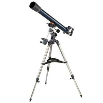 Телескоп Celestron AstroMaster 70AZ, Максимално увеличение x165, Светлосила f/12.86, кристална глетка, ярки и ясни изображения image
