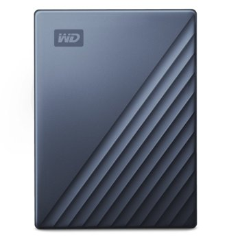 "Твърд диск 4TB, Western Digital MyPassport Ultra Blue WDBFTM0040BBL (син), външен, 2.5"" (6.35 cm), USB Type C image"