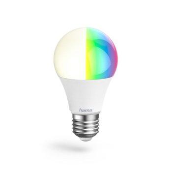 Смарт крушка Hama 176547, 10W, 806 lm, RGB, WiFi, бяла image