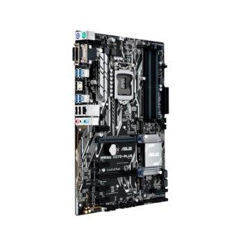 Дънна платка Asus PRIME H270-PLUS, H270, LGA 1151, DDR4, 2x PCI-E 3.0(HDMI/DVI/D-Sub)(CrossFireX), 6x SATA 6Gb/s, 4x USB 3.0, 2x M.2 Sockets, ATX image