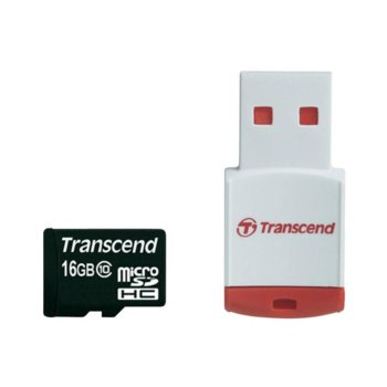 Transcend 16GB micro SDHC (with reader - Class 10) product
