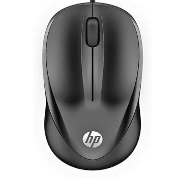 Мишка HP Wired Mouse 1000, оптична (1000 dpi), USB, черна image