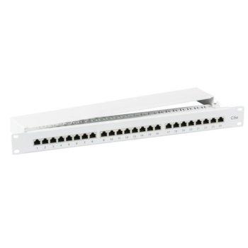 """Пач панел EFB Elektronik 37668.1M, 24x порта, 19"""", 1U, екраниран, Cat.5e IDC T568A/T568B, FTP, сив image"""