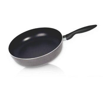 Дълбок тиган Sapir SP 1319 A26D, алуминий, алуминиево покритие, 26 cm диаметър, 6.8 cm дълбочина, черен image