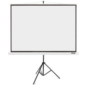 """Екран Acer T87-S01MW, с алуминиева стойка трипод, White, 1740 x 1300 мм, 87"""" (221 cm), 4:3 image"""