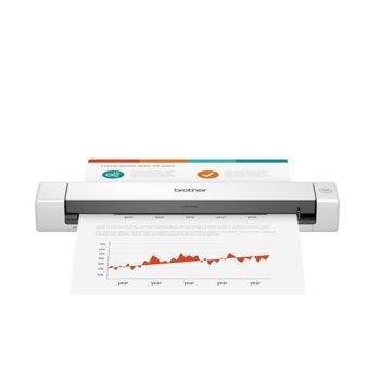 Преносим скенер Brother DS-640, 1200 x 1200 dpi, A4, двустранно сканиране, USB, бял image