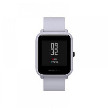 "Смарт часовник Xiaomi AMAZFIT Bip S White, 1.28"" (3.25 cm) LCD Touchscreen дисплей, до 40 дни живот на батерията, IP68, бял image"