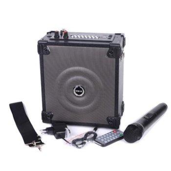 """Тонколона Royal MK-A2 6.5"""", 60W, Bluetooth, USB, AUX, черна, FM, преносима, безжичен микрофон, слот за microSD карта, дистанционно управление, цифров LED дисплей image"""