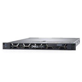 Сървър Dell PowerEdge R440 (PER440CEEM02), осемядрен Cascade Lake Intel Xeon Silver 4208 2.1/3.2 GHz, 16GB RDIMM DDR4 , 240GB SSD, 2x 1GbE LOM, 2x USB 3.0, без ОС, 1x 550W image