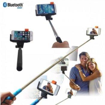 Селфистик Digital One SP00025, Monopod до 100 см., bluetooth, сгъваем, бутон за заснемане, алуминиева сплав, гумирана дръжка, черен image
