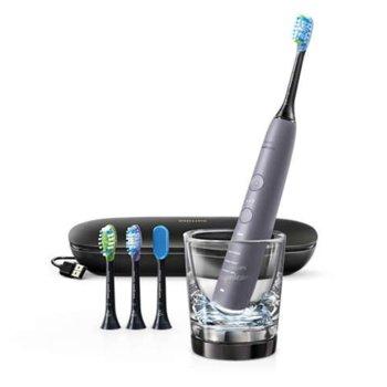 Ел. четка за зъби Philips Sonicare HX9924/47, с литиево-йонна акумулаторна батерия, Bluetooth, 5 режима, 3 степени на интензивност, 14 дни работа с едно зареждане, сребриста image