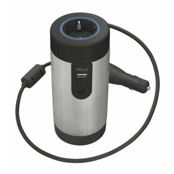 Инвертор TRUST 12V DC car socket to 230 Volt, за кола, 300W max image