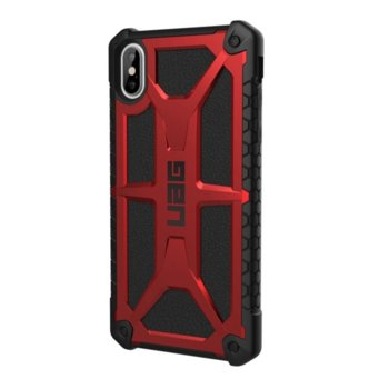 Калъф за Apple iPhone XS Max, хибриден, Urban Armor Monarch 111101119494, удароустойчив, червен image