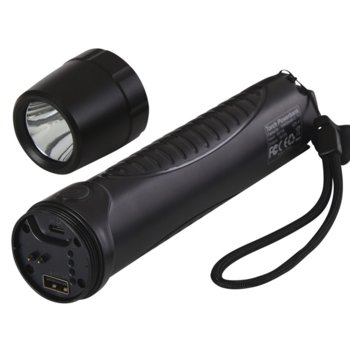 Фенер Sandberg Torch, 10400 mAh батерия, USB, удароустойчив, водоустойчив, ръчен, черен image