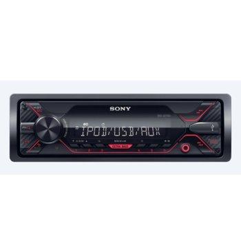 Аудио система за кола Sony DSX-A410BT, 4x 55W, AUX, USB, вграден тунер за AM/FM радио, червена подсветка  image