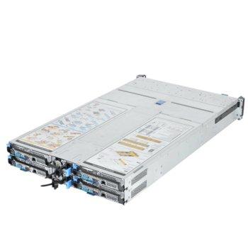 """Barebone Сървър Quanta T41SP-2U, поддържа Intel Xeon processor E5-2600 v3/v4, 16x DIMM DDR4 слота, Без твърд диск(24x 2.5"""" Hot-plug SSD), 3x PCIe Gen3, 2U Rackmount, 2x 1600W захранване image"""