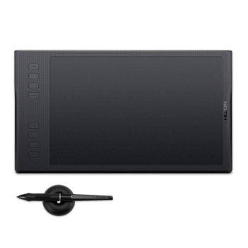 Графичен таблет Huion Inspiroy Q11K V2 (черен), 279.4 x 174.6 mm (11 x 6.875 inch), 5080 lpi, 8192 ниво на натиск, писалка, Wi-Fi, image