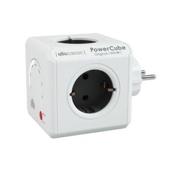 Разклонител Allocacoc Power Cube WiFi 9610, 4 гнезда, Wi-Fi, защита от деца, бял image