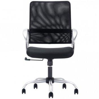 Работен стол OPALA LB STEEL, тапициран с еко кожа, Tilt механизъм за регулиране на люлеещия ефект и наклона на облегалката, газов амортисьор бял image