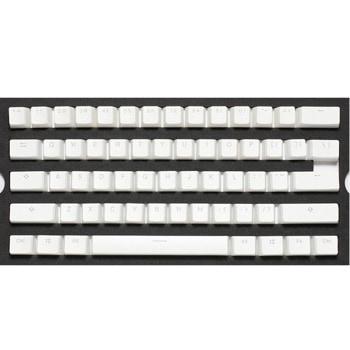 Капачки за механична клавиатура Ducky Pudding White 108-Keycap Set PBT Double-Shot US Layout, бял image