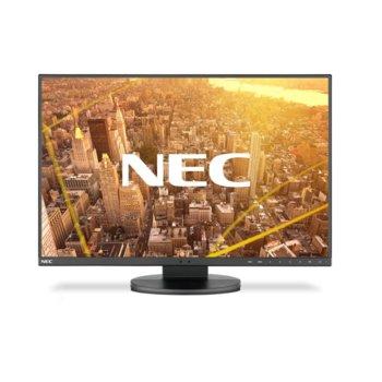 """Монитор NEC EA241WU Black, 24"""" (60.96 cm) IPS панел, WUXGA, 5ms, 5000:1, 300 cd/m2, HDMI, Display Port, VGA, DVI-D, USB image"""