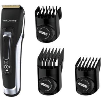 Тример за брада Rowenta Advancer TN5240F0, миещ се, работа на батерия или включен към ел.жрежа, до 120 мин. работа безжично, 3x гребена, черна image