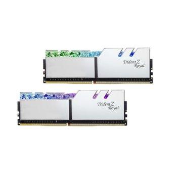 Памет 32GB (2x16GB) DDR4 4000MHz, G.SKILL Trident Z Royal, F4-4000C19D-32GTRS, 1.35V, RGB image