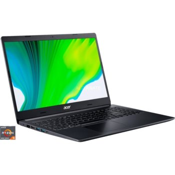 "Лаптоп Acer Aspire 7 A715-41G-R6CB (NX.Q8LEX.007), четириядрен Zen 2 AMD Ryzen 5 3550H 2.1/3.7GHz, 15.6"" (39.62 cm) Full HD Anti-Glare Display & GF GTX 1650 4GB, (HDMI), 8GB DDR4, 512GB SSD, 1x USB 3.1 Type-C, Free DOS image"