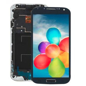 Дисплей за Samsung Galaxy i9505 S4 с тъч и рамка, оригинален, син image