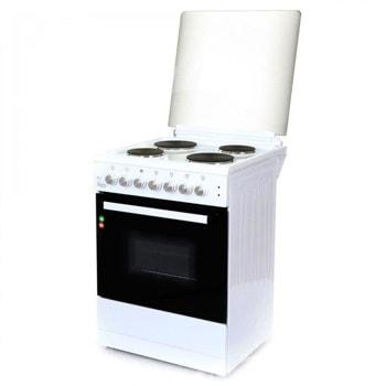 Готварска печка Zephyr ZP 1441 4E60F, 4 котлона, 6 функции, 58 литра обем на фурната, бяла image
