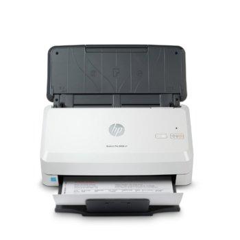 Скенер HP ScanJet Pro 2000 s2, 600 dpi, A4, двустранно сканиране, ADF, USB, бял image