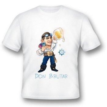 Тениска GplayTV DonBrutar, размер S, бяла image