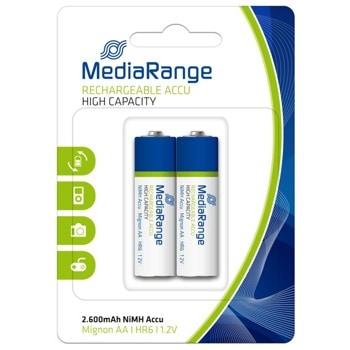 Акумулаторна батерия MediaRange High Cap. MRBAT123, HR6, 1.2V, 2600 mAh, NiMH, 2 броя image