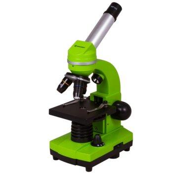 Микроскоп Bresser Junior Biolux SEL 40–1600x, 40–1600x оптично увеличение, включен набор за експерименти, светодиоднo фоново осветление, зелен image