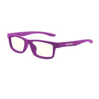 Детски компютърни очила Gunnar Cruz Kids Small, Clear Natural, за деца от 4 до 8 години, 35% филтър на синя светлина, лилав image