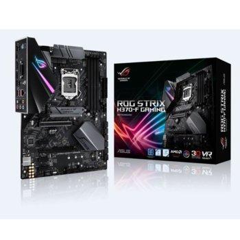 Дънна платка ASUS ROG STRIX H370-F GAMING, H370, LGA1151, DDR4, PCI-E (HDMI&DP)(CFX), 6x SATA 6Gb/s, 2x M.2 Socket, 1x USB 3.1 Gen 2 USB Type-C, ATX image