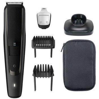 Тример Philips BT5515/15, Lift & Trim гребен, гребен за дълга брада, батерия 2 часа работа, черен image