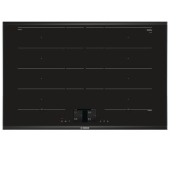Индукционен стъклокерамичен плот за вграждане Bosch PXY875KW1E, 9 нагревателни зони, 17 нива на мощност, TFT-touchdisplay, PerfectFry, PerfectCook, 3.3 kW, черен image