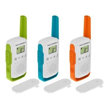 Радиостанции Motorola Тalkabout T42 PMR 3 броя, PMR446, 16 канала, до 4 km, лесно сдвояване, бяли image