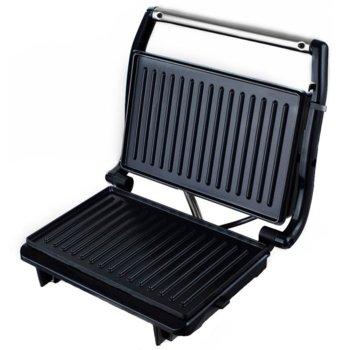 Сандвич скара Sapir SP 1442 PD, незалепващо покритие, грил плочи, защита против прегряване, 750 W, черен image