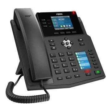 "VoIP телефон Fanvil X4U, 12 SIP акаунта, 2.8"" (7.11 cm) 320x240 цветен дисплей, 2x 10/100/1000 Mbps LAN порта, PoE, черен image"