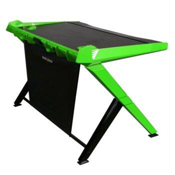 Компютърно бюро DXRacer 1000-NE, 120.14 x 79.74 x 80 cm, до 50 кг. натоварване, черно-зелено image
