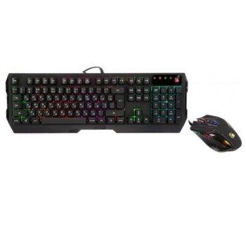 Комплект клавиатура, мишка Bloody Q1300, подсветка, оптична мишка (3200 dpi), гейминг, USB, черни image