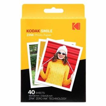Фотохартия Kodak Zink RODZL3X440, 3.5 x 4.25 inch, за Kodak Smile Classic, 40 листа image