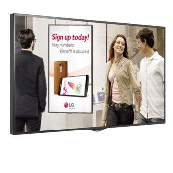"""Публичен дисплей LG 55XS2B, 55""""(139.7 cm), Full HD LED, HDMI, DVI-D, DisplayPort, USB image"""
