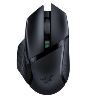 Мишка Razer Basilisk X HyperSpeed (RZ01-03150100-R3G1), оптична (16,000 DPI), безжична, 2.4GHz, Bluetooth, USB, черна, 6 програмируеми бутона, гейминг image
