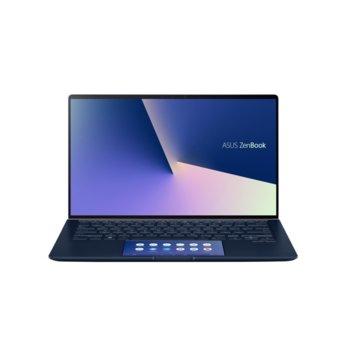 """Лаптоп Asus ZenBook 14 UX434FQC-WB501T (90NB0RM3-M01020), четириядрен Comet Lake Intel Core i5-10210U 1.6/4.2 GHz, 14.0"""" (35.56 cm) Full HD Touchscreen Glare Display & GF MX350 2GB, (HDMI), 8GB, 512GB SSD, 1x USB 3.1 Type C, Windows 10 Pro  image"""
